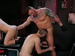pleather,gaysex,wolf,raunchy,stretching