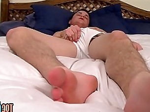 toegasms,dustin fitch,foot fetish,big cock,toes