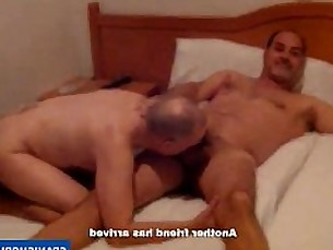 spaniard,daddies,uncut,gay,threesome