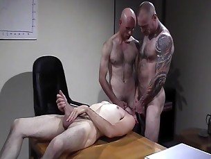 daddy,muscle,tattoos,hairy,office