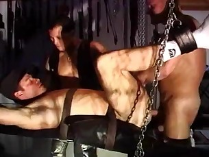 restraints,bondage,sling,hung,muscular