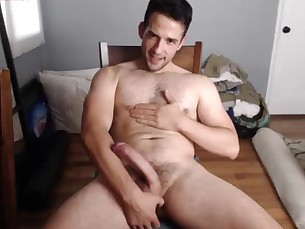 hairy,handsome,guy,webcam,cumshot
