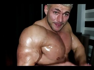 muscular,god,masturbation,hair,oil
