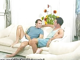 threeway,throat,shaved,sucking,cock