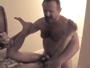 daddy,muscle,hairy,son,fucks